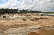 Construction photo of UF Health Wildlight