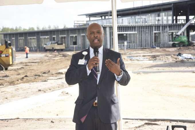 Leon L. Haley Jr., CEO of UF Health Jacksonville and dean of the UF College of Medicine – Jacksonville speaks