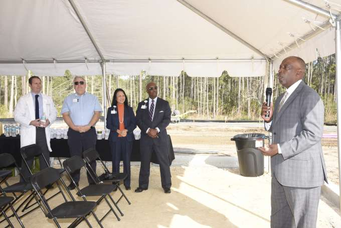 Eric Mann, president and CEO of First Coast YMCA, speaks
